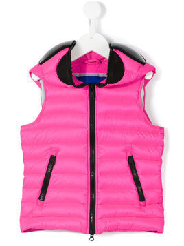 Ai Riders On The Storm Kids mask padded gilet - Pink & Purple