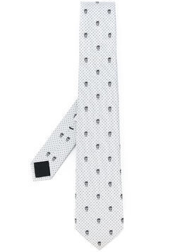 Alexander McQueen skulls and dots tie - Grey