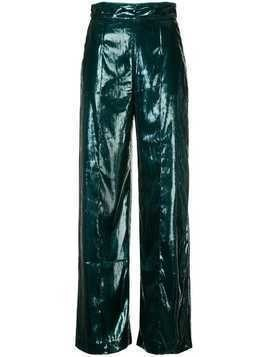 Michael Lo Sordo high waisted flared trousers - Green