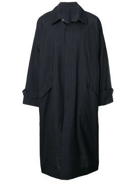 Hed Mayner classic pin-stripe trench coat - Blue