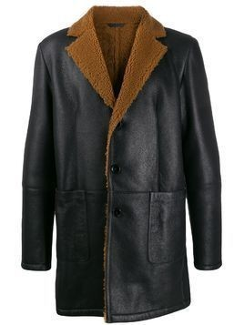 Desa 1972 shearling-lined coat - Black