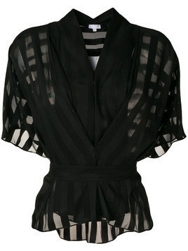 Lala Berlin sheer short-sleeve blouse - Black