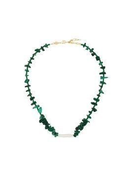 Anni Lu 18kt gold-plated Ines malachite necklace - Green