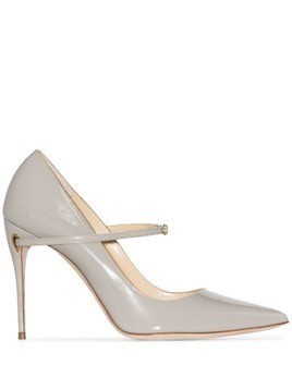 Jennifer Chamandi Lorenzo 105mm pumps - Grey