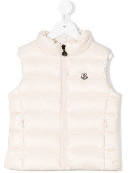 Moncler Kids padded gilet - Pink & Purple