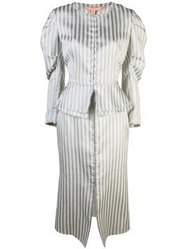 Brock Collection fitted striped dress - White