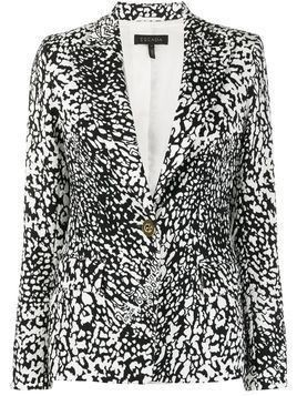 Escada single-breasted abstract-pattern blazer - Black