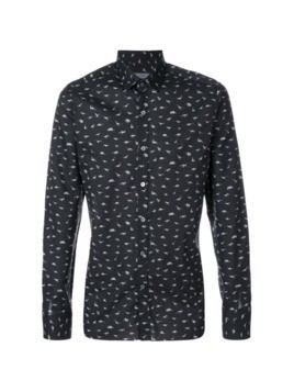 Lanvin animal print shirt - Black