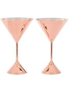 Tom Dixon Plum martini set of two glasses - Gold