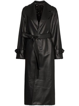Anouki reversible sequinned trench coat - Black