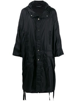 David Catalan hooded raincoat - Black
