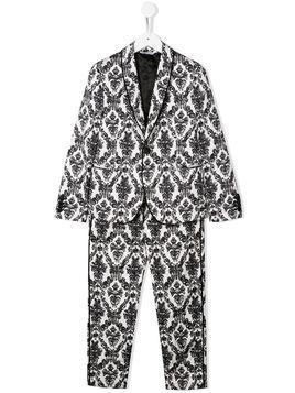 Dolce & Gabbana Kids brocade two-piece suit - White