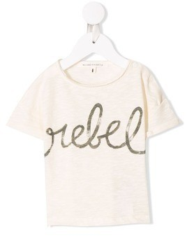Message In The Bottle printed T-shirt - NEUTRALS