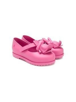 Mini Melissa Donald duck ballerina shoes - Pink & Purple