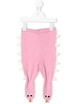 Stella McCartney Kids monster knitted trousers - PINK