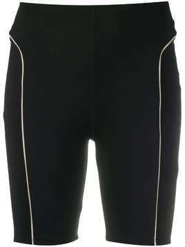 Esteban Cortazar contrast piping biker shorts - Black