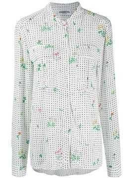 Essentiel Antwerp polka dot casual shirt - White
