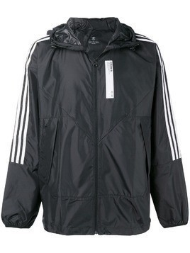 Adidas stripe detail jacket - Black