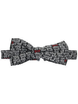 Fendi Kids embroidered logo bow tie - Black