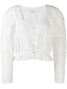 Love Shack Fancy Sabrina blouse - White
