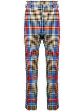 Charles Jeffrey Loverboy check print trousers - Multicolour