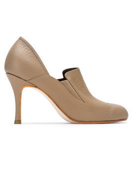 Sarah Chofakian leather panelled pumps - Nude & Neutrals