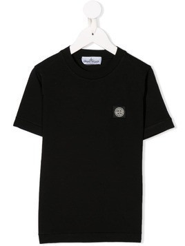 Stone Island Junior fitted T-shirt - Black