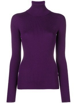 Dolce & Gabbana ribbed roll neck jumper - Purple