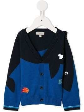 Paul Smith Junior embroidered cardigan - Blue