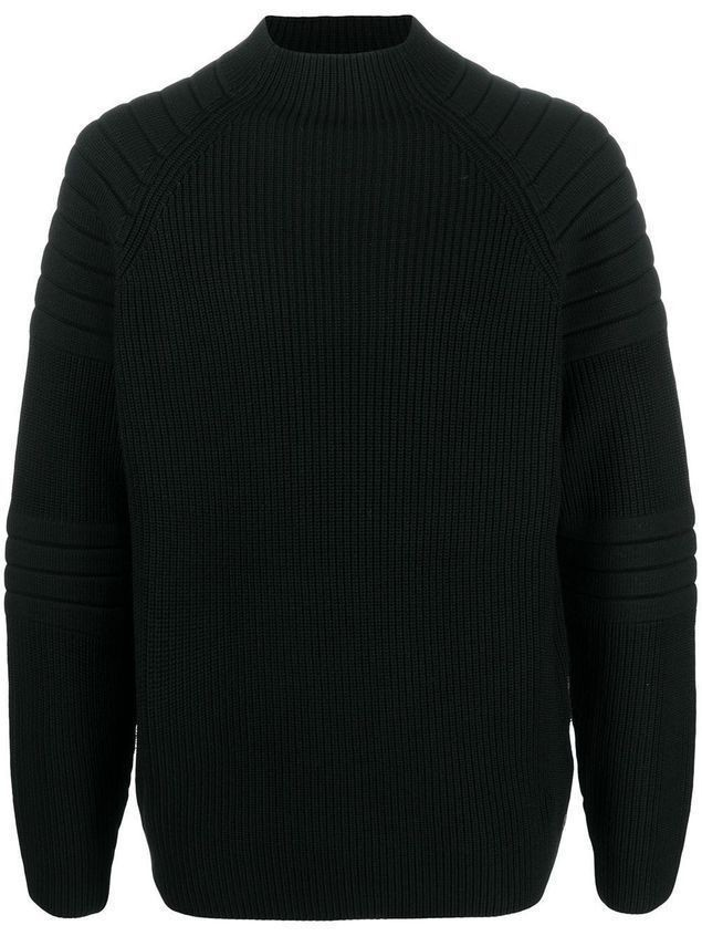 Karl Lagerfeld ribbed-knit high-neck jumper - Black