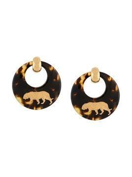 Gas Bijoux Tigre hoop earrings - Brown