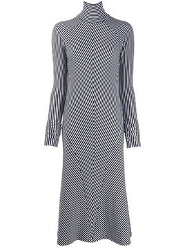 Haider Ackermann striped midi dress - White