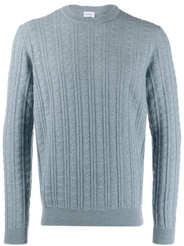 Salvatore Ferragamo Gancio knit jumper - Blue