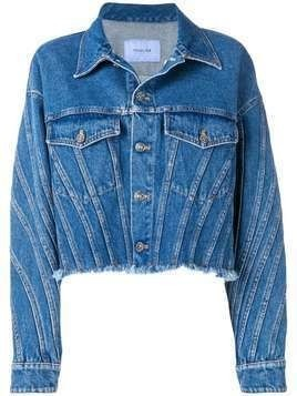 Mugler oversized denim jacket - Blue