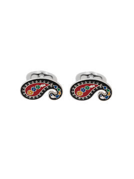 Etro paisley embellished cufflinks - Black