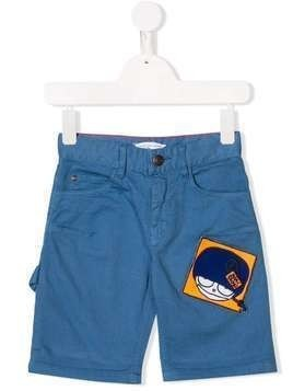 Little Marc Jacobs Mr Marc patch bermudas - Blue