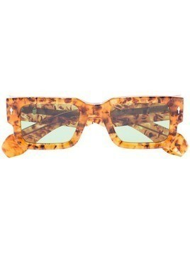 Jacques Marie Mage Ascari square tortoiseshell-effect sunglasses - Brown