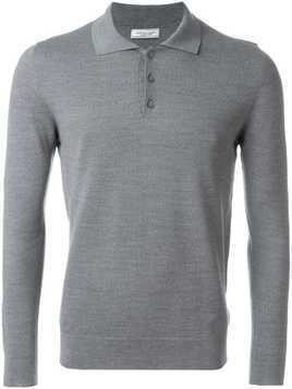 Fashion Clinic Timeless longsleeved polo shirt - Grey