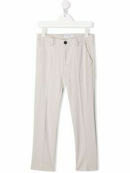 Paolo Pecora Kids tailored straight-leg trousers - Neutrals