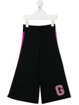 Gaelle Paris Kids flared track pants - Black