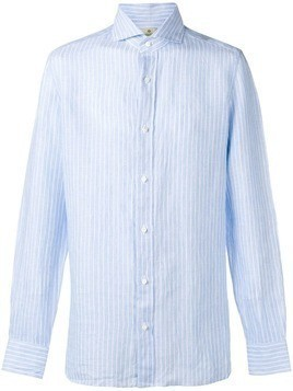 Borrelli striped button shirt - Blue