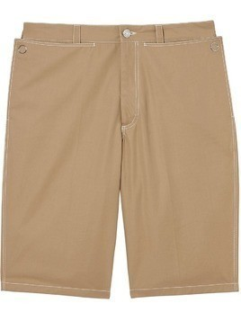 Burberry Pocket Detail Cotton Tailored Shorts - Brown