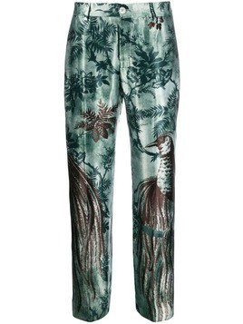 F.R.S For Restless Sleepers straight leg printed trousers - Green