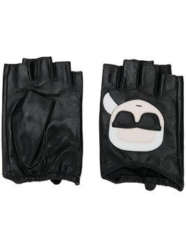 Karl Lagerfeld Ikonic fingerless gloves - Black