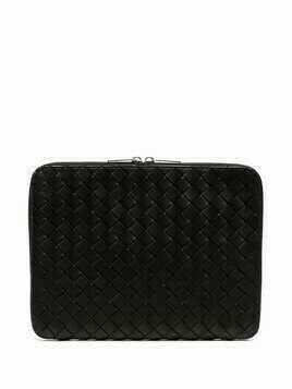 Bottega Veneta Intreacciato zip-around laptop case - Black