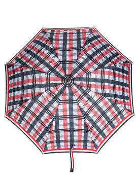 Thom Browne crooked handle striped umbrella - Multicolour
