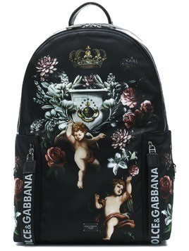 Dolce & Gabbana angels printed backpack - Black