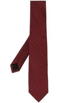 D'urban woven pointed-tip tie - Red