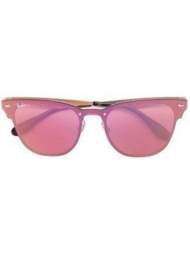 Ray-Ban Blaze Clubmaster sunglasses - Pink & Purple