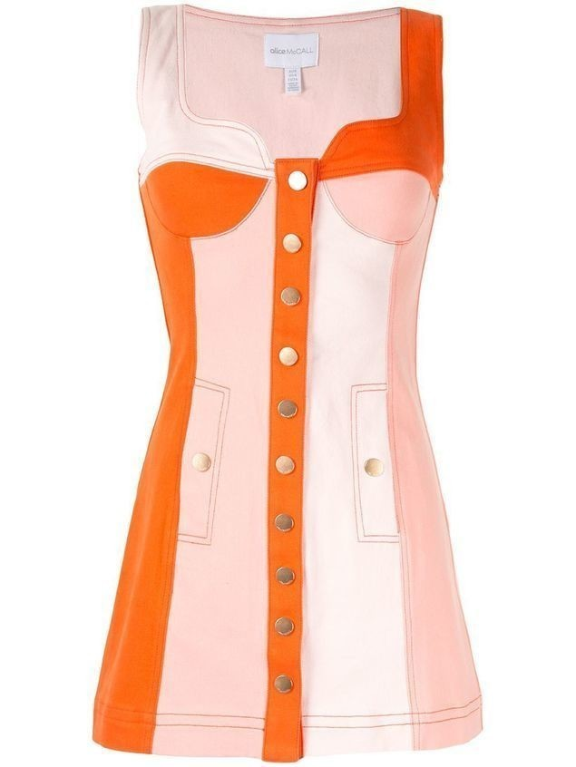 Alice McCall Chelsea Hotel panelled mini dress - ORANGE